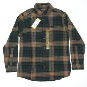 Eddie Bauer Bristol Flannel Plaid Long Sleeve